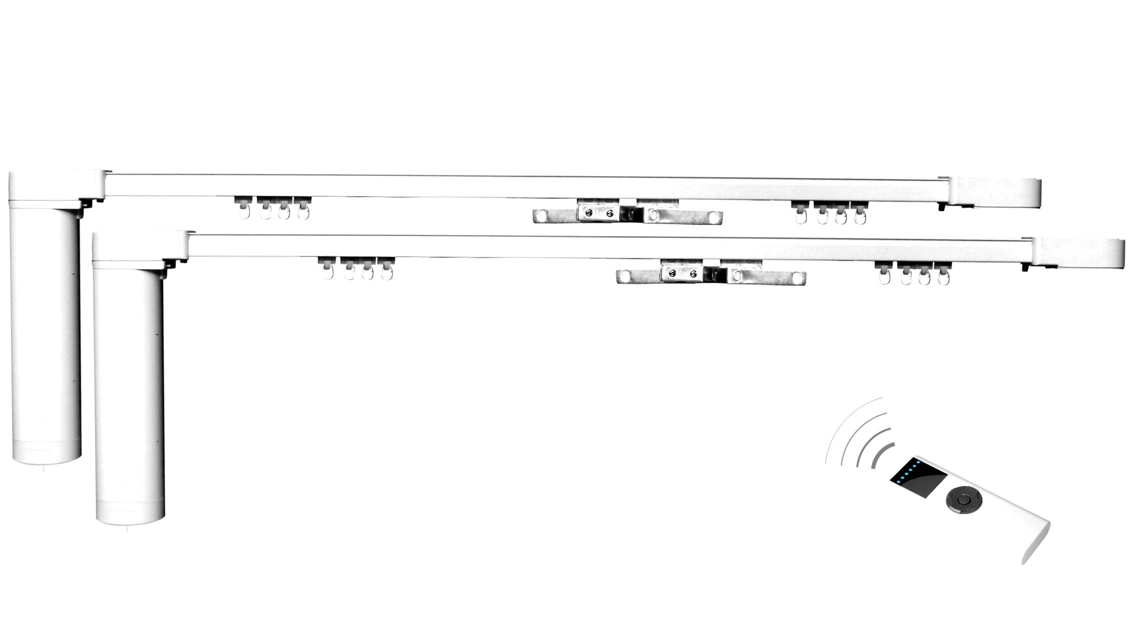 Remote Motorized Belt Drive Electric Curtain Rail Track CL200BT